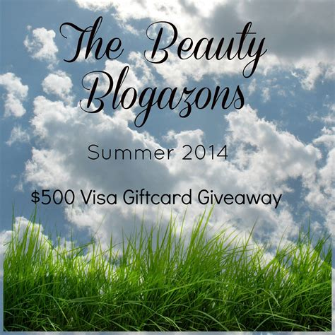 Beauty Giveaways 2014 - the beauty blogazons summer 2014 500 giftcard giveaway bellbellebella