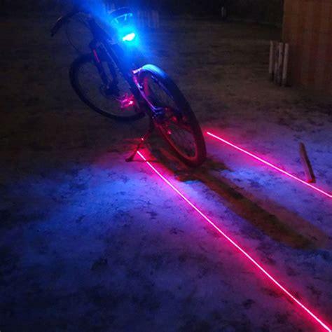 Senter Sepeda Bicycle Laser Light aliexpress buy 5led 2laser bicycle rear light laser bike light cycling safety