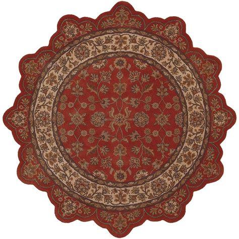 shaped area rugs lr resources traditional brick ivory shaped 5 ft plush indoor area rug shape50001bkv50st