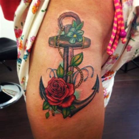 anchor and rose tattoo 55 creative watercolor tattoos for and