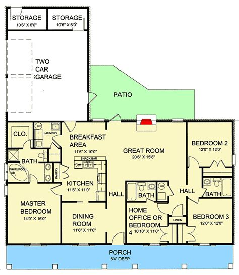 porch floor plan single story house plans with front and back porch luxamcc