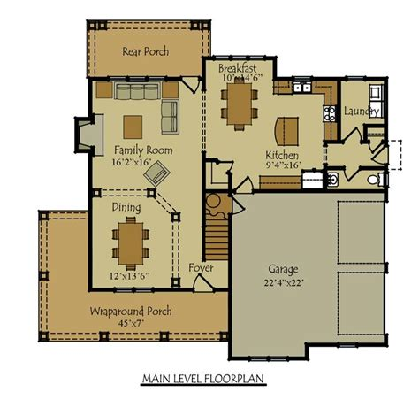 Open Garage Plans by Two Story Four Bedroom House Plan With Garage Room