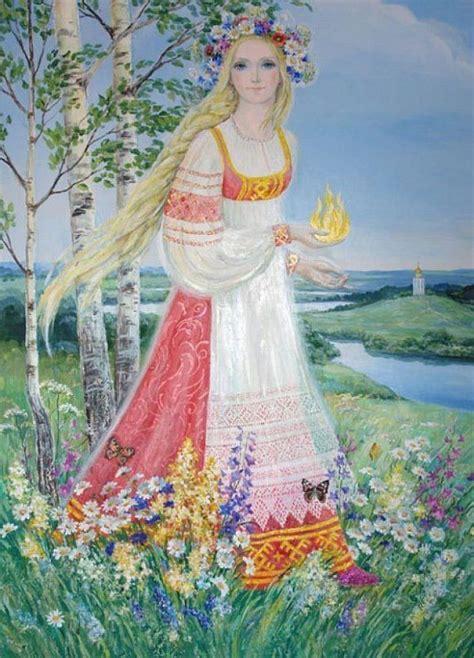 Goddess Lada Lada Or Of The Flowers Slavic Goddess Of