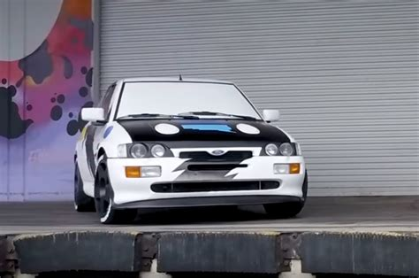 Ken Block Ford Focus Specs by Ken Block Debuts His 1993 Ford Rs Cosworth Rally