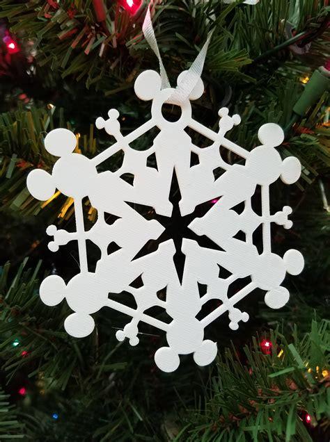 printed disney mickey mouse ears snowflake gift tag christmas ornament snowflake template