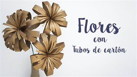 tutoriales de floreros de flores con tubos de cart