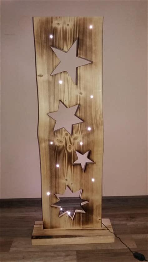 deko beleuchtung holzbrett mit sterne led beleuchtung woods and craft