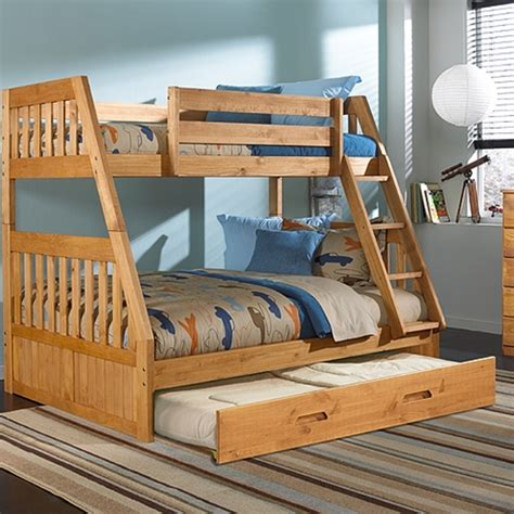 twin  full bunk bed  twin trundle