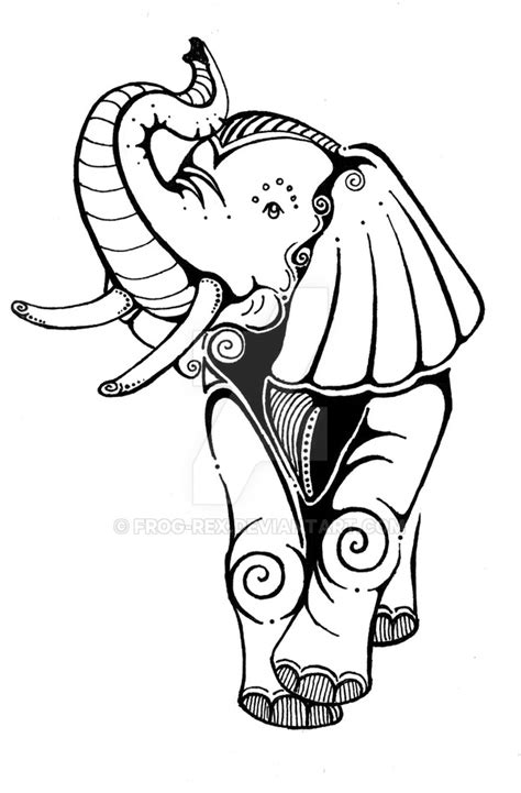 elephant tattoo template 50 baby elephant tattoos ideas