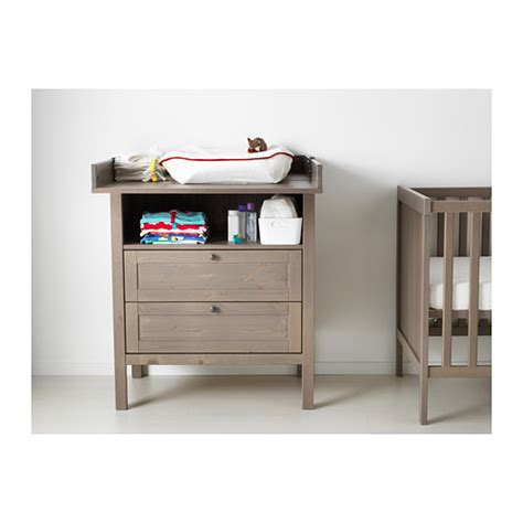 Sundvik Changing Table Chest Of Drawers Grey Brown Ikea Chest Of Drawers Changing Table