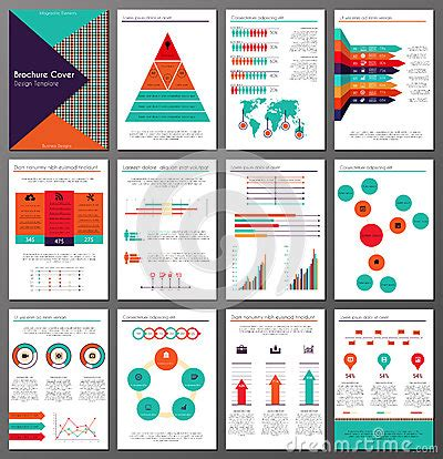 data visualization templates infographic brochure and flyer design templates set stock