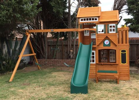 swing set costco cedar summit mount forest lodge set from costco yelp
