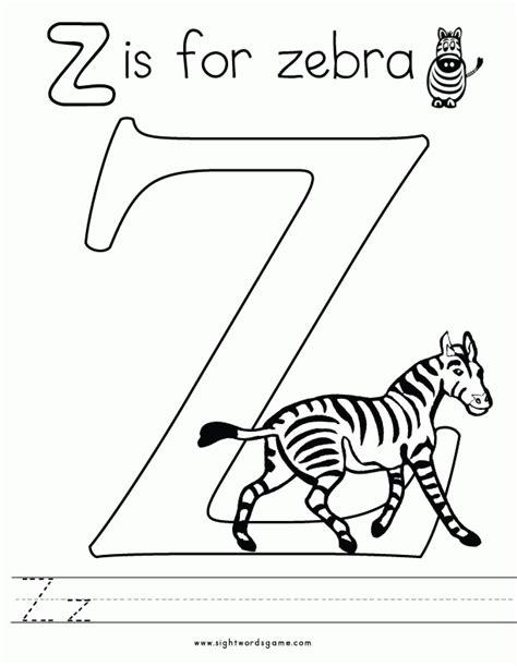 Z Zebra Coloring Page by Letter Z Zebra Coloring Page Coloring Pages Coloring