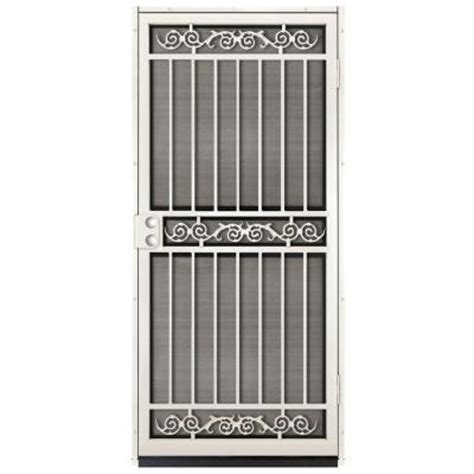 Security Patio Doors Home Depot by Unique Home Designs 36 In X 80 In Sylvan Almond Surface