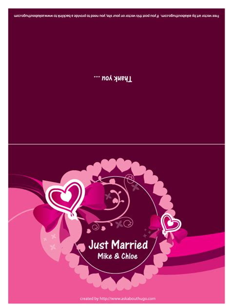 Free Vector Wedding Card Design Template by Free Vector Wedding Card Design Printriver 169