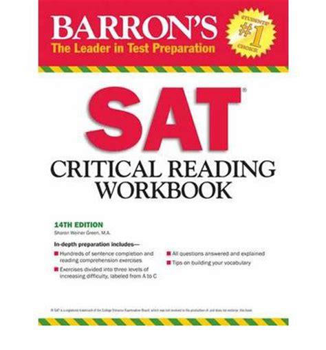 sat critical reading section sat critical reading workbook sharon weiner green