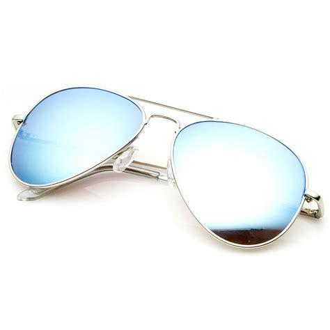 Mirror Metal Frame Sunglasses premium classic metal frame flash mirror lens aviator