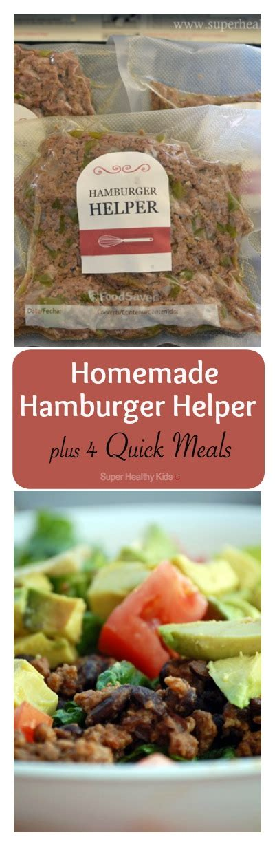 4 quick meals with homemade hamburger helper healthy ideas for kids