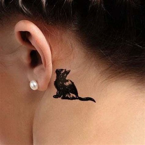 cat ear tattoo 93 best kulak d 246 vmeleri ear tattoos images on