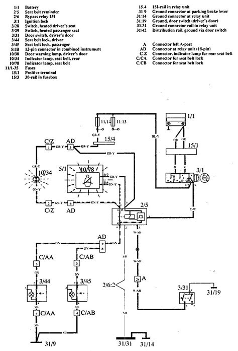 1997 volvo s90 wiring diagram volvo 960 parts diagram