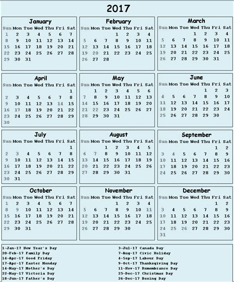 printable calendar 2017 download canada 2017 calendar big 2017 calendar printable for