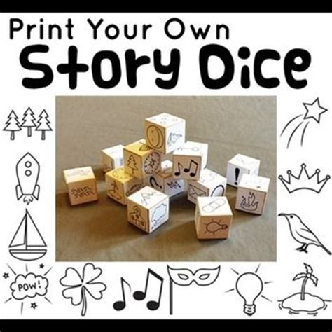 printable story dice printable story dice plus graphic organizers and