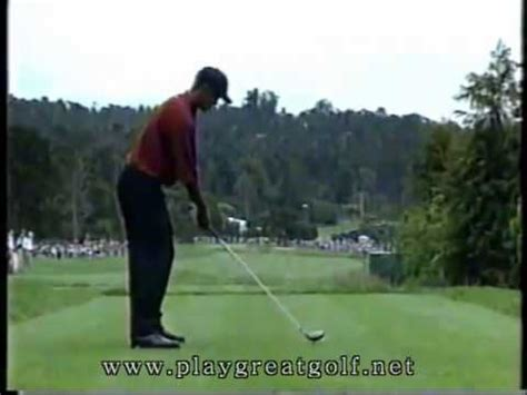 tiger woods golf swing 2000 tiger woods driver swing 2000 us open youtube