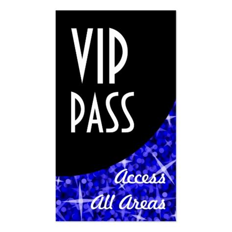 Printable Vip Ticket Pass Template Exle With Black And Sparkling Blue Bokeh Background Thogati Vip Badge Template