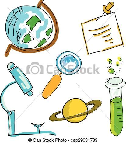 doodle science login vector of picture with science stuff vector
