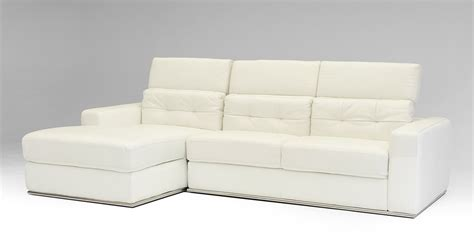 956 modern white bonded leather sectional sofa