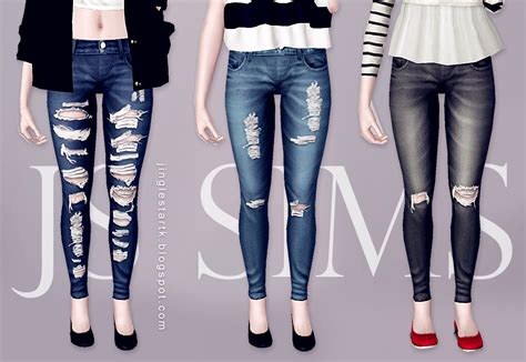child sims 3 jeans js sims 3 denim ripped jeans js sims