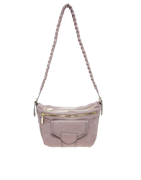 Mischa Bartons Mystery Handbag by Mischa Barton Franklin Shoulder Bag In Gray Powder Lyst