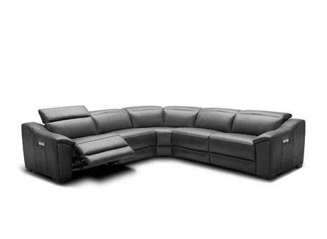 Dark Grey Leather Sectional Nj 775 Leather Sectionals Leather Sofas Nj