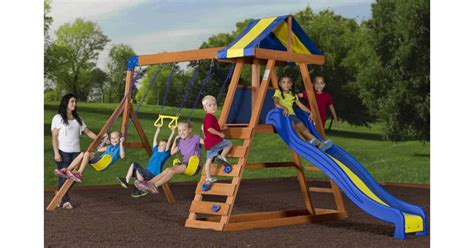 swing set swings only cedar wooden swing set for only 25 00 was 329 00