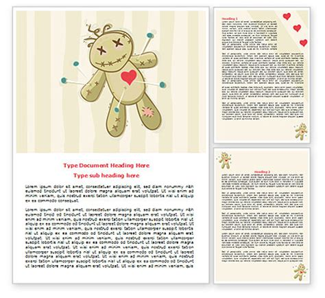 templates for word love voodoo love doll word template poweredtemplate com