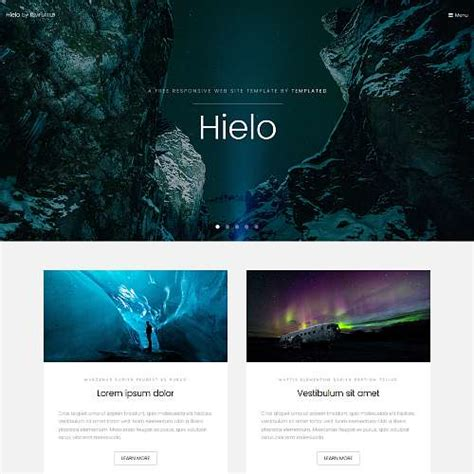 html5 templates for presentation templated free css html5 and responsive site templates