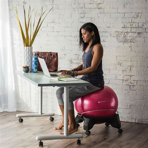 stability for desk gaiam backless balance chair 52cm