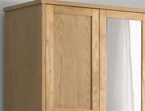 atlanta oak 3 door wardrobe
