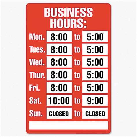 Food St Office Hours by Office Signs Walmart