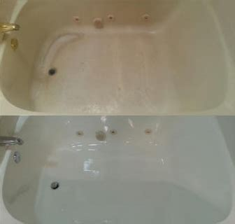 acrylic tub before and after refinishing sharp refinishing