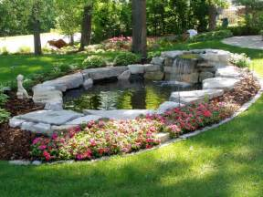 waterfalls ponds traditional landscape minneapolis