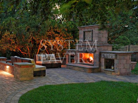 system pavers outdoor fireplace outdoor gas propane and wood fireplaces
