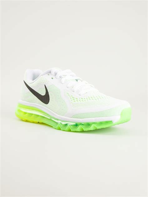 neon sneakers nike nike air max 2014 neon sole sneakers in white for lyst