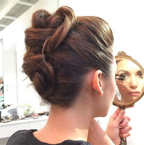 17 best ideas about edgy updo on faux hawk updo edgy hair and braid ponytail