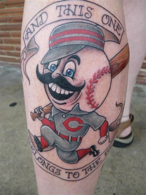 tattoo charlies preston batter up cincinnati reds by lucky at