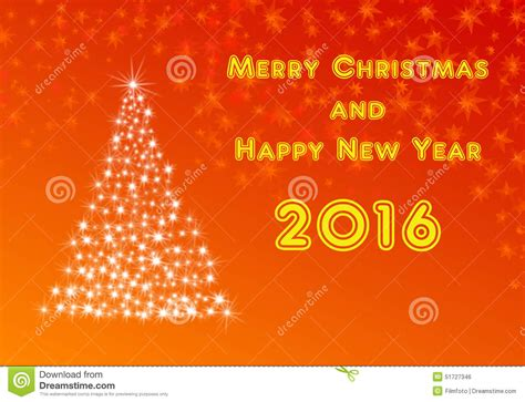 what a happy what a merry tree happy new year 2016 with tree stock illustration