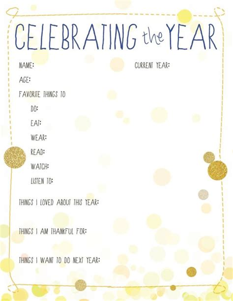 new year printables 17 best images about new year s resolution on