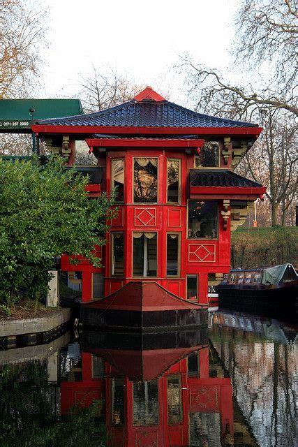 floating boat restaurant london chinese houseboat on the regent s channel london uk