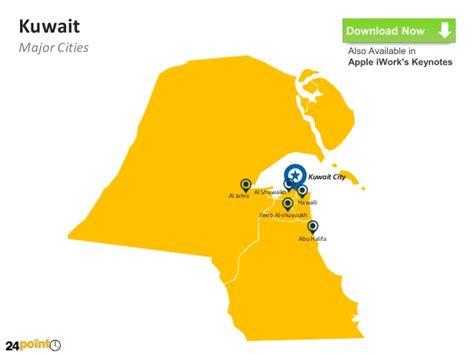 powerpoint templates kuwait kuwait map powerpoint template