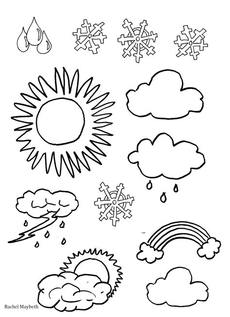 weather coloring page free rachel maybeth free weather clipart coloring pages